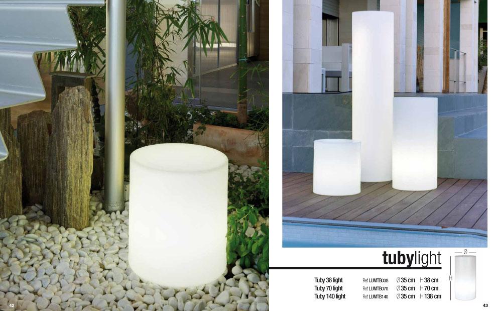 newgarden tuby 140 cubo iluminado exterior led rgb
