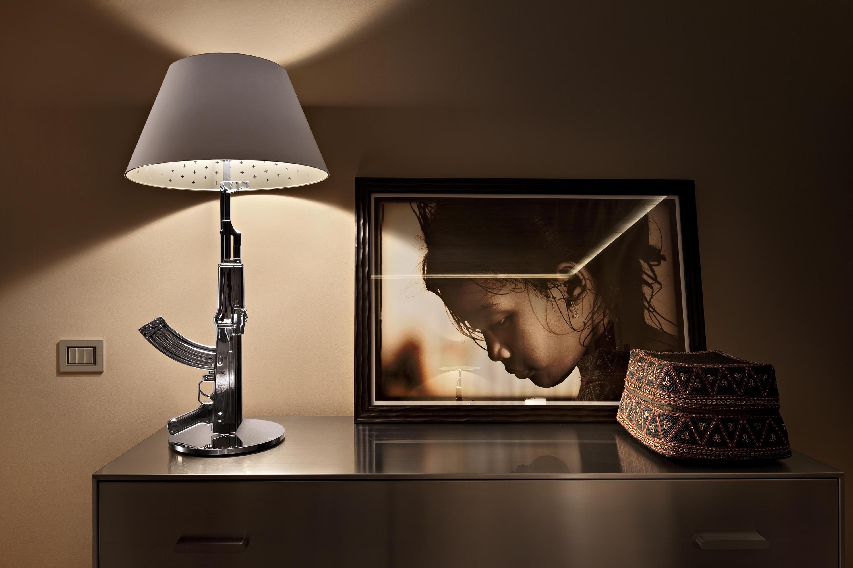 Flos gun lámpara di lampada da terra 1x205w f2955000 lámparas de