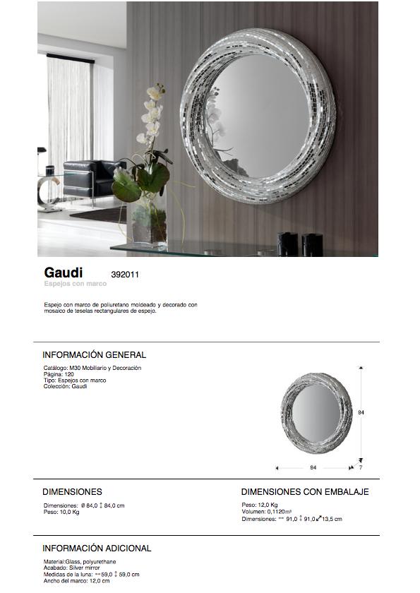 Schuller gaudi miroir rodas ronde 84 argent 392011 for Schuller miroir