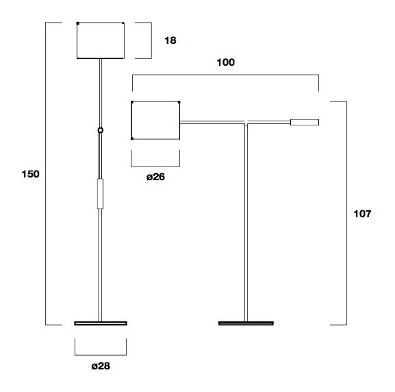 Metalarte Libra P Floor Lamp Structure Nickel Mate 346101010 L 225 Mparas De Dise 241 O