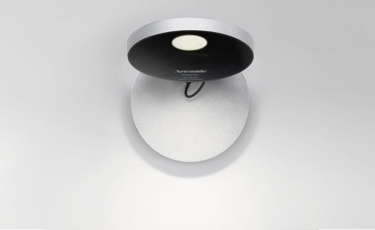 Artemide Demetra Faretto Wall Lamp With Switch 1730020a