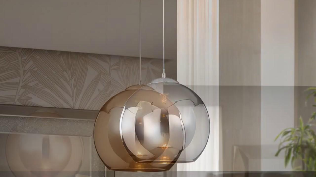 Schuller esfera l mpara colgante 36x35cm 1xe27 589131 for Tulipas para lamparas de techo