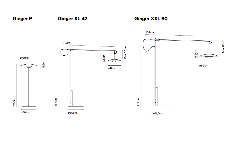 Marset Ginger Xl42 Floor Lamp Dimmable Led Smd A662 070