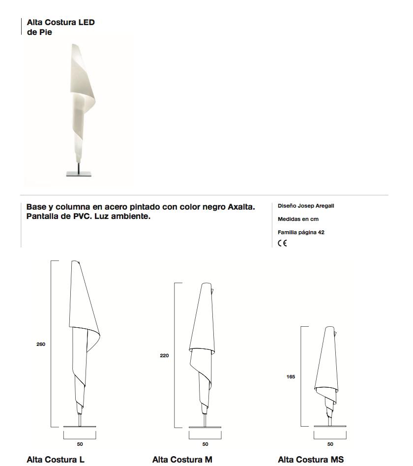 Metalarte alta costura l floor lamp structure 326904701 for Alta costura f floor lamp