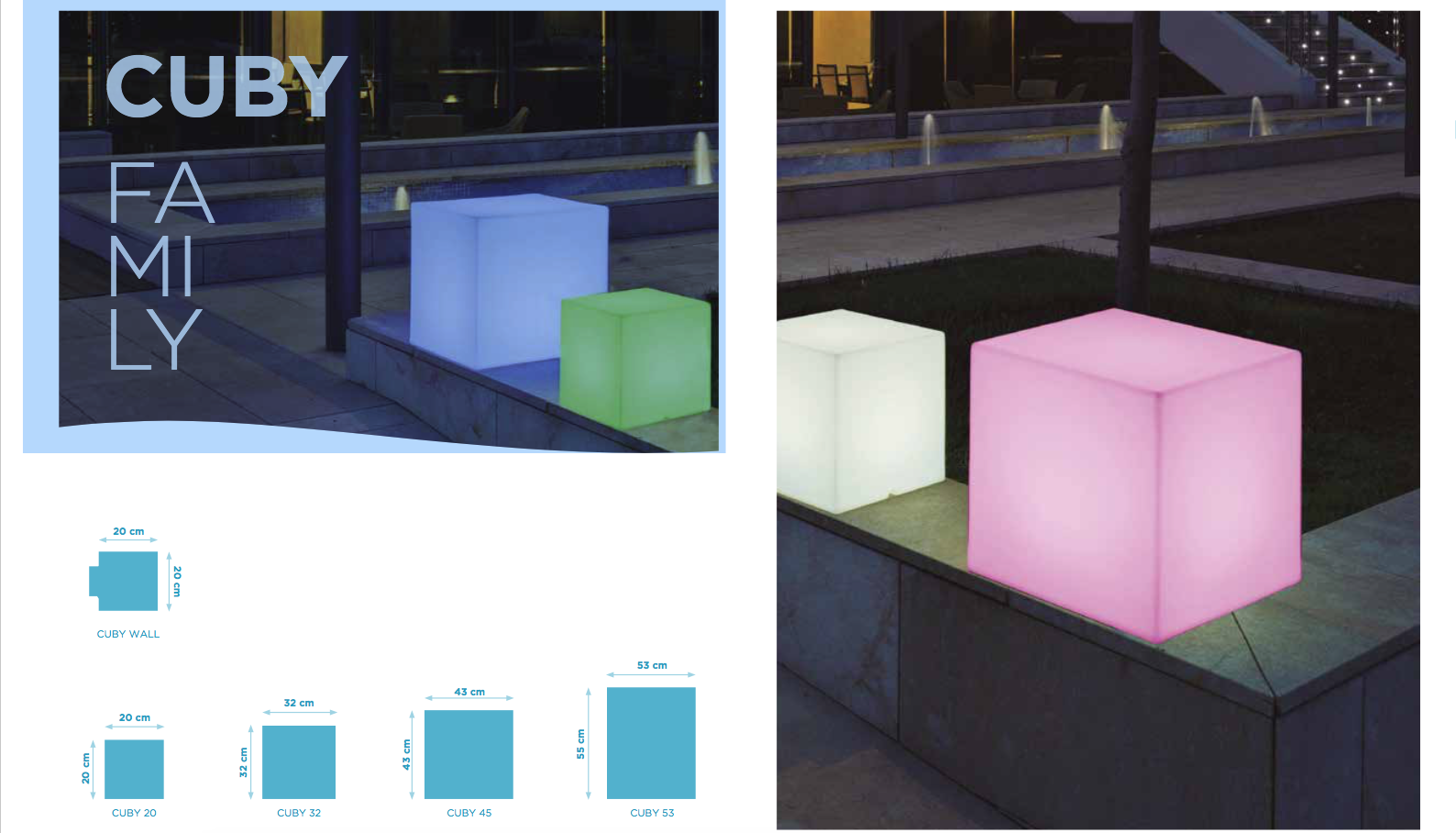 Imagen 2 de Cuby 55 cube iluminado Outdoor light fría 43x43x53cm ... & NewGarden Cuby 55 cube iluminado Outdoor light LUMCB053OFNW ...