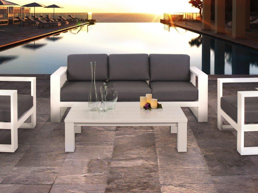 Schuller java sof exterior blanco 285318 l mparas de dise o for Sofa exterior aluminio blanco