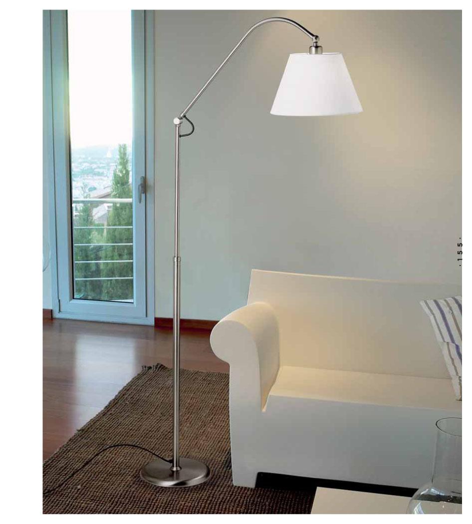 Pujol iluminacion americana l mpara de pie niquel p 1007 - Iluminacion lamparas de pie ...