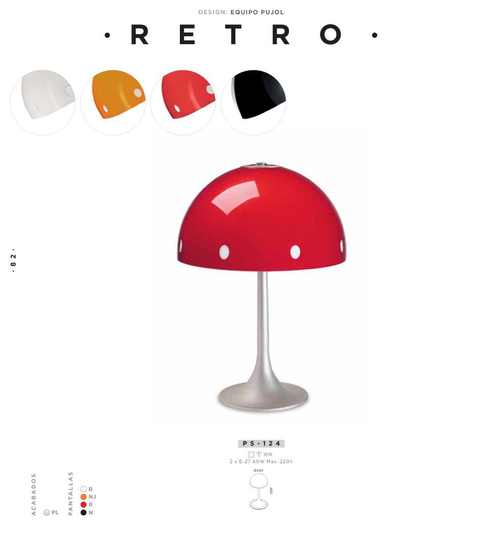 Retro Table Lamp 49cm E27 2x60w white Pujol Iluminacion Image