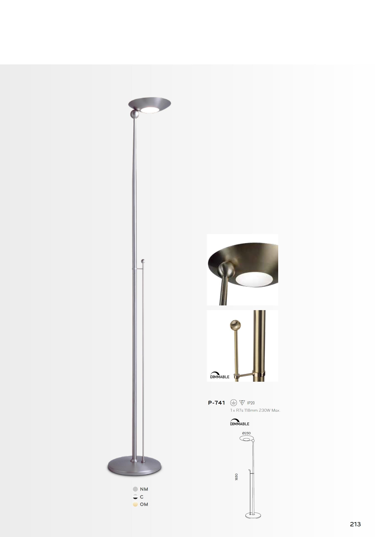 Pujol iluminacion pies l mpara de pie p 741 l mparas de - Iluminacion lamparas de pie ...