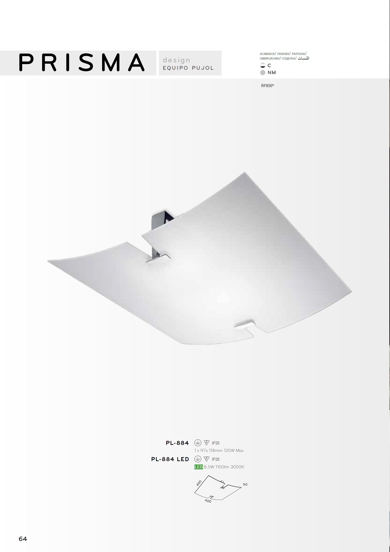 pujol iluminacion prisma plaf n r7s pl 884 l mparas de