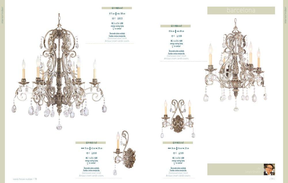 Savoy house barcelona colgante interior 6xe14 60w gz 1 - Lamparas de diseno barcelona ...