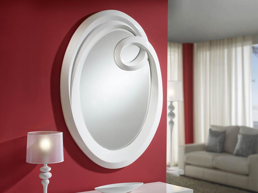 Schuller ronda espejo grande blanco 306928 l mparas de for Espejo grande blanco