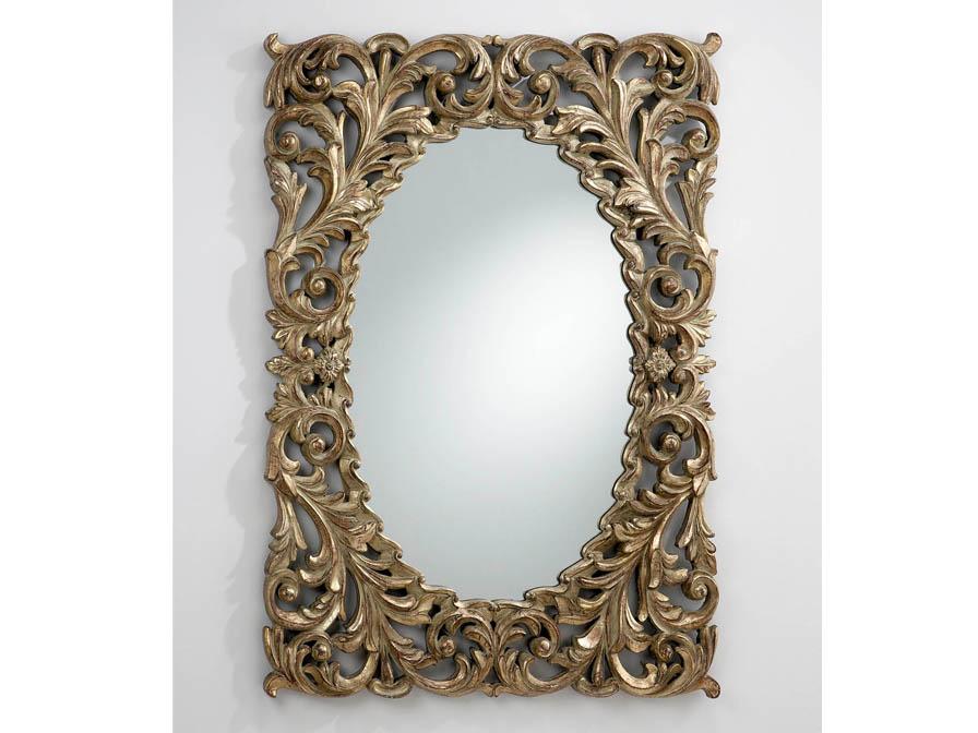 Schuller luna spiegel oval mit rahmen rechteckig 309912 for Spiegel oval mit rahmen