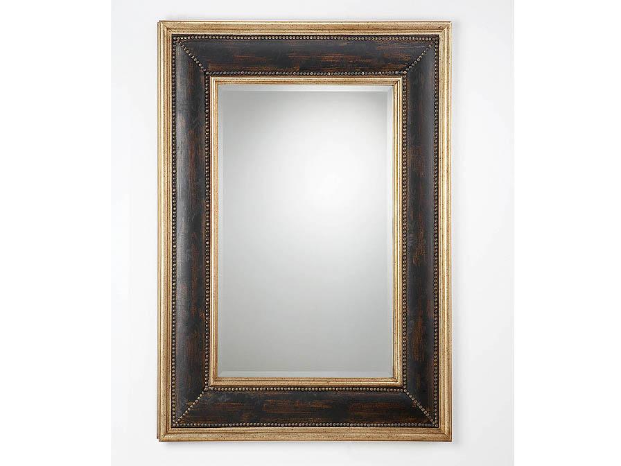 Schuller espejo rectangular marco negro 310315 l mparas for Espejo marco negro