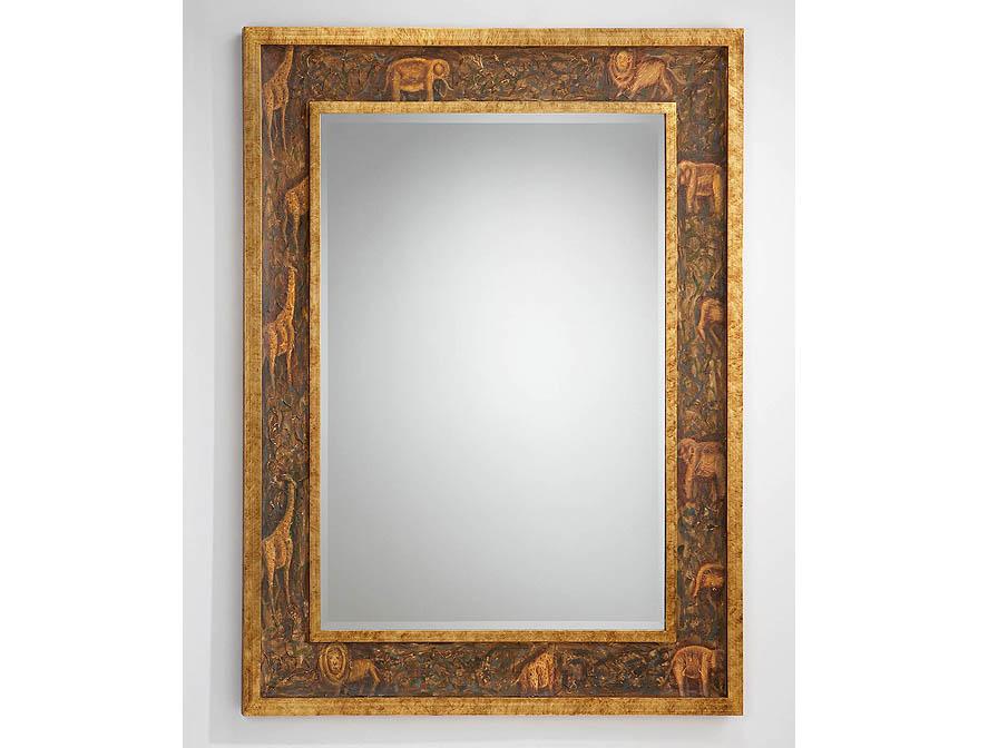 Schuller espejo rectangular marco dorado 310812 l mparas for Espejo marco dorado