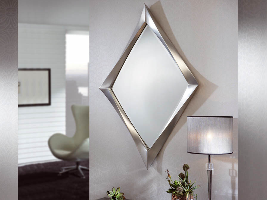 Schuller espejo rombo pan de plata 343415 l mparas de dise o - Lamparas para espejos ...