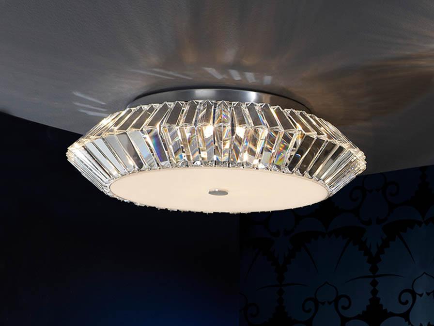 Schuller eos plaf n grande 9l cromo cristal 507332 - Plafones para salon ...