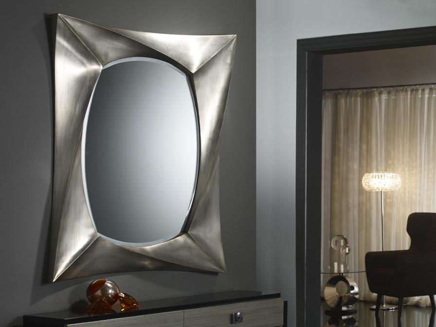 Schuller espejo rectangular pan de plata grande 681681 for Espejo rectangular grande