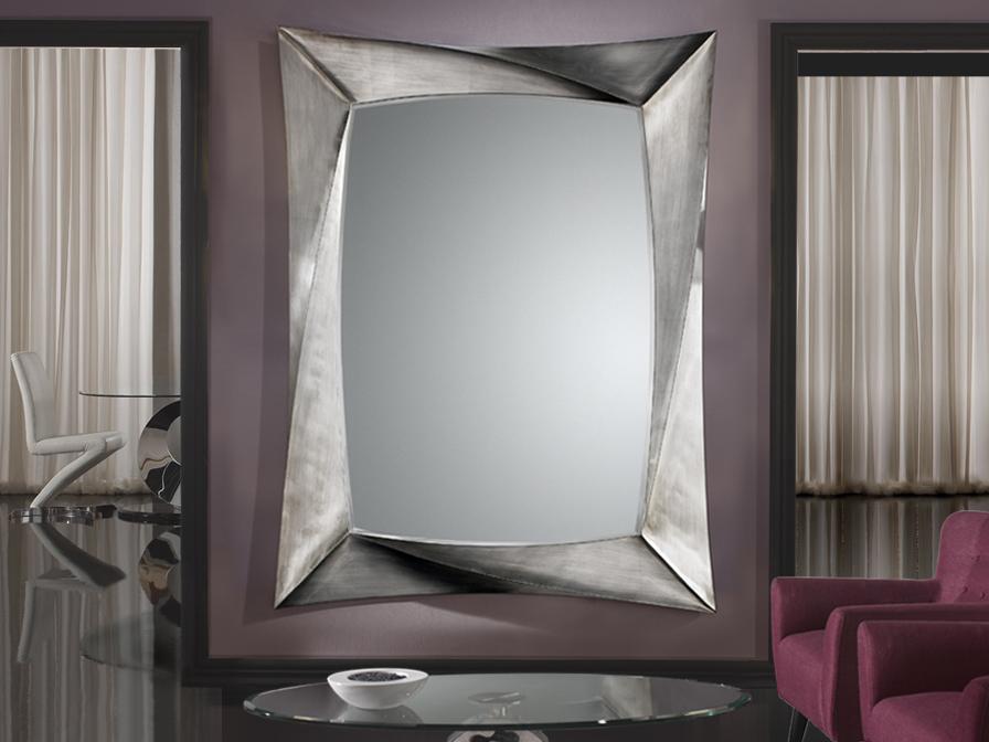 Schuller espejo cuadrado pan de plata grande 681794 - Espejos marco plateado ...