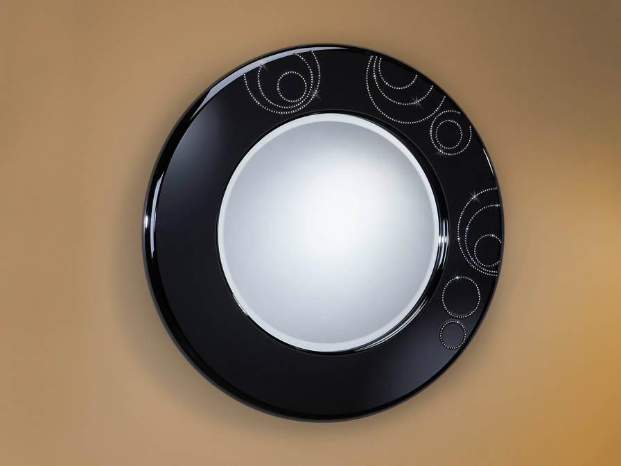 Schuller luxury espejo redondo negro 71412048 l mparas for Espejo redondo negro