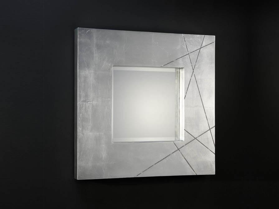 Schuller luxury espejo cuadrado pan de plata 71432481 - Lamparas para espejos ...