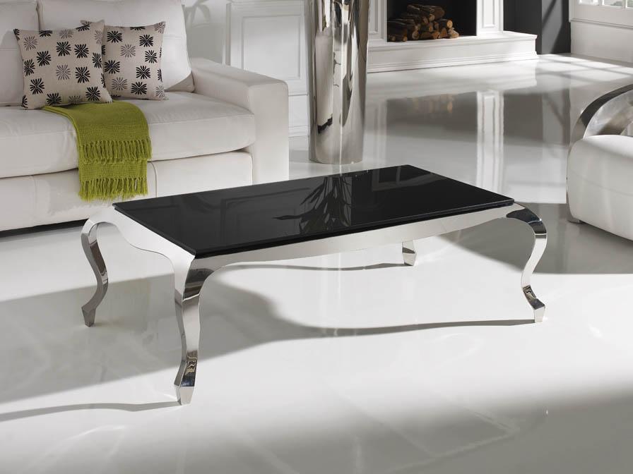 Schuller barroque mesa centro acero 820810 2027 l mparas - Mesas de cristal y acero ...