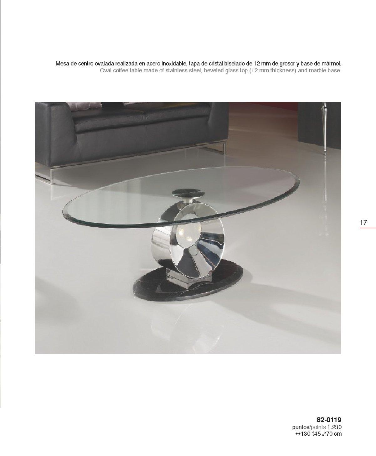 Schuller luna mesa centro oval 820119 - Mesas de marmol y cristal ...