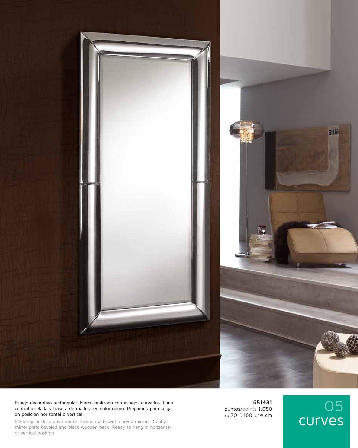 Schuller curves miroir 160x70 651431 l mparas de dise o for Miroir hauteur 160
