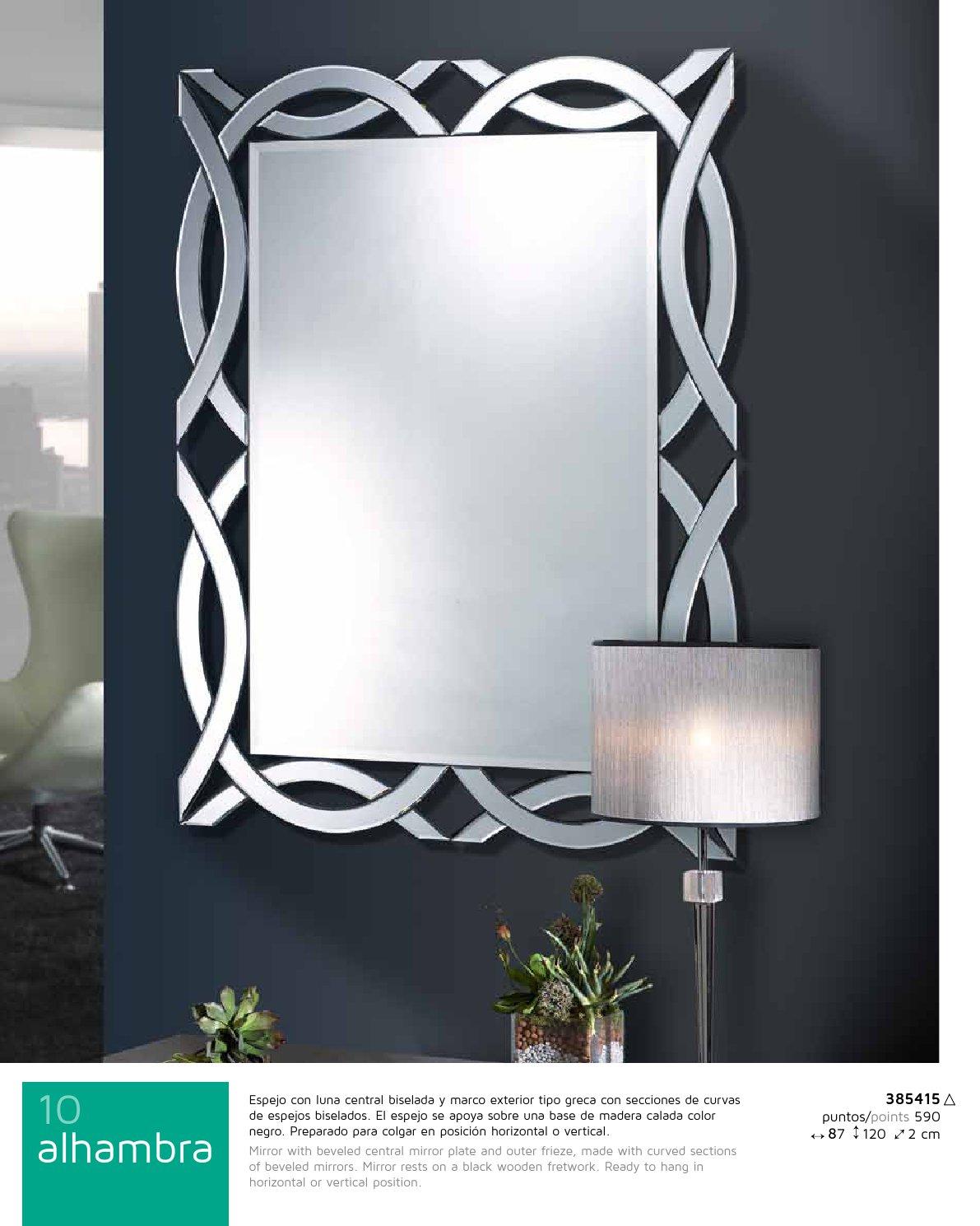 Alhambra espejo rectangular 87x122cm Schuller Foto