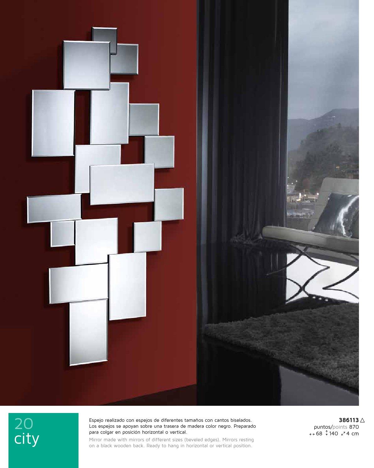 Schuller city espejo rectangular 68x140cm 386113 for Espejos minimalistas