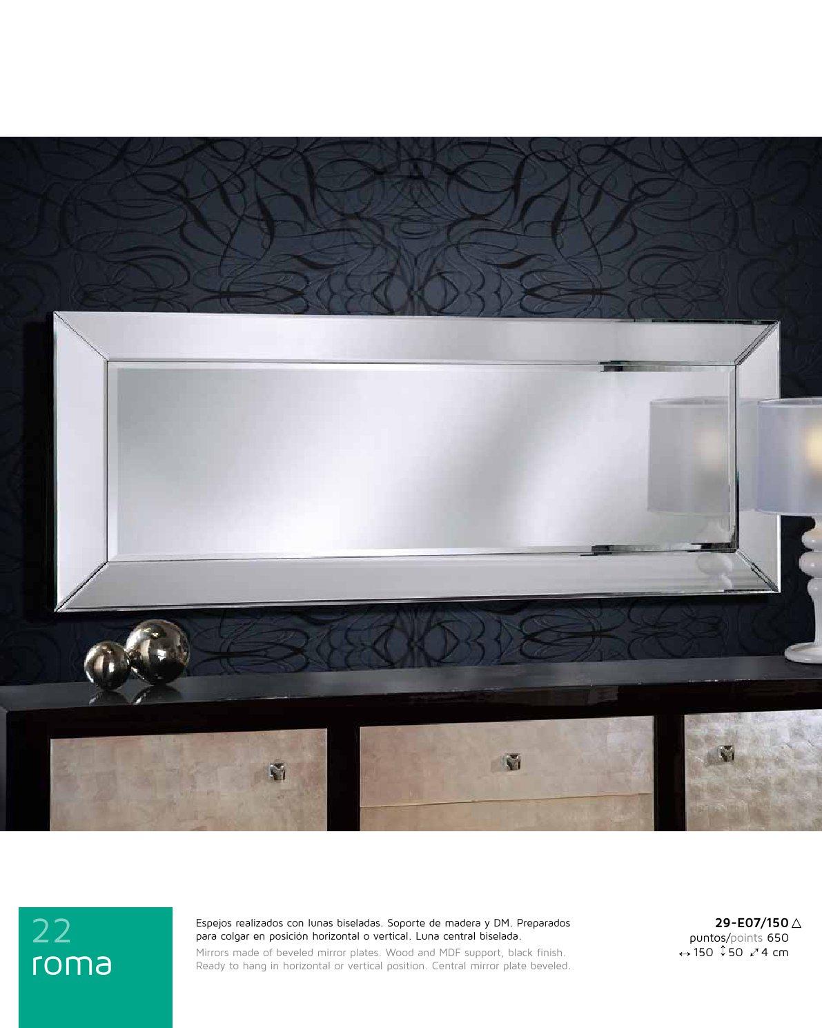 Schuller roma miroir 150x50 29 e07 150 for Espejo 50 x 150
