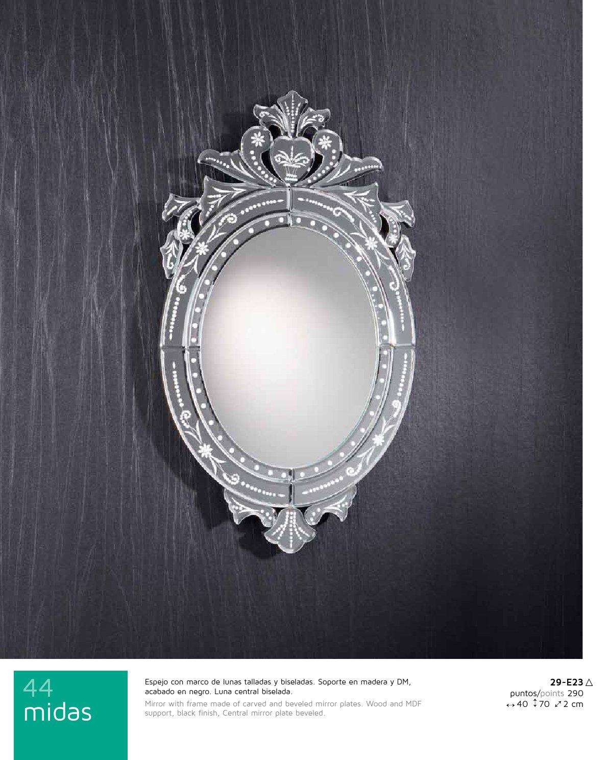 Schuller midas miroir 40x70cm 29 e23 l mparas de dise o for Schuller miroir