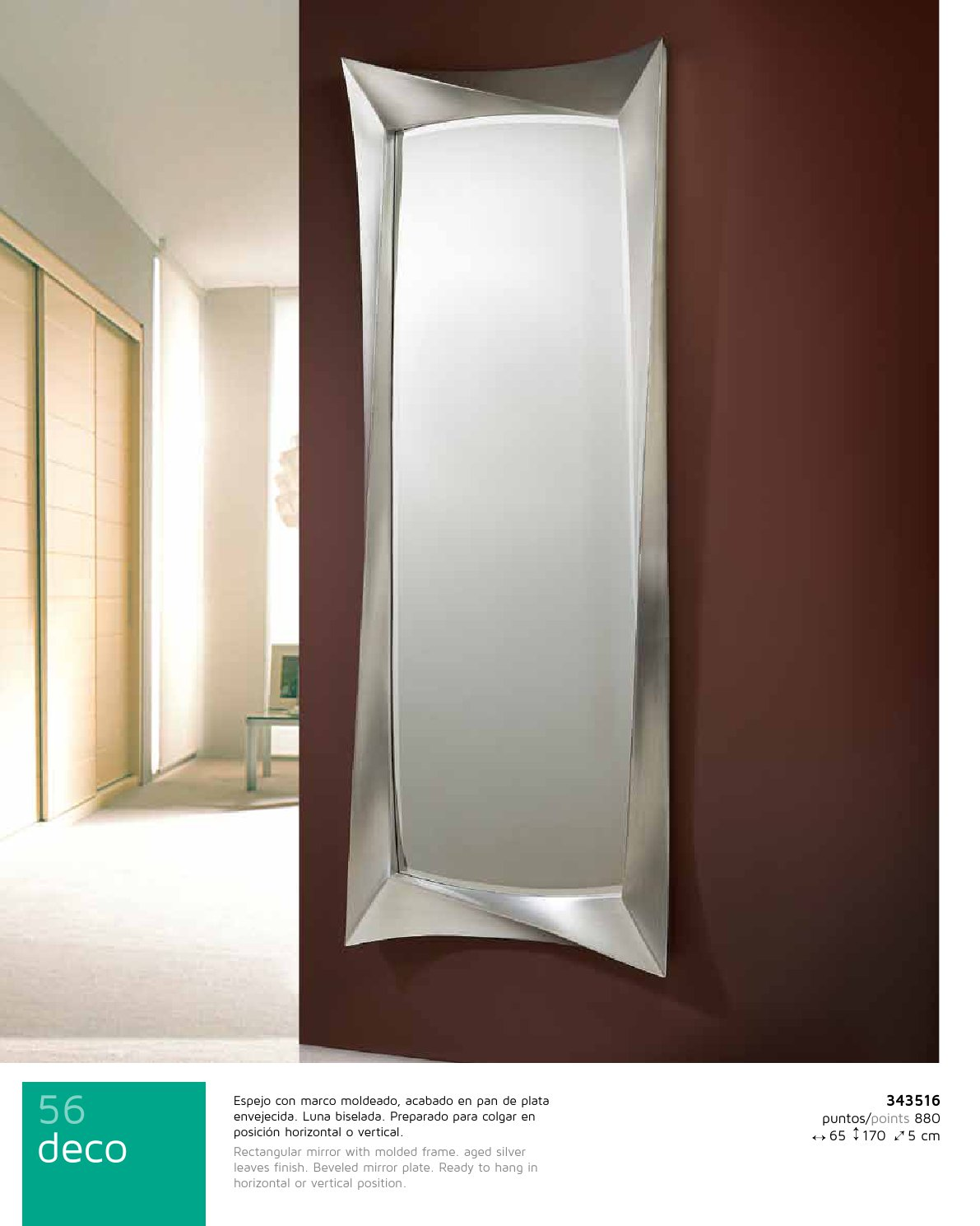 Schuller Deco espejo rectangular Grande Pan de 343516 - Lámparas de ...
