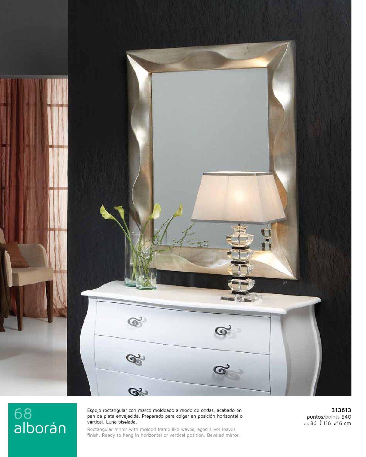 Schuller alboran specchio rettangolare quadro 313613 - Specchio invecchiato ...