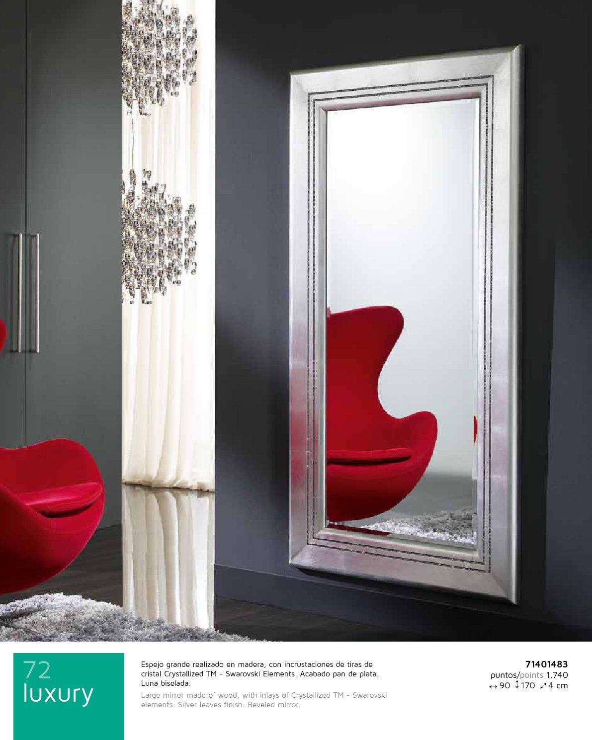Schuller luxury espejo rectangular grande pan de 71401483 for Espejo rectangular grande