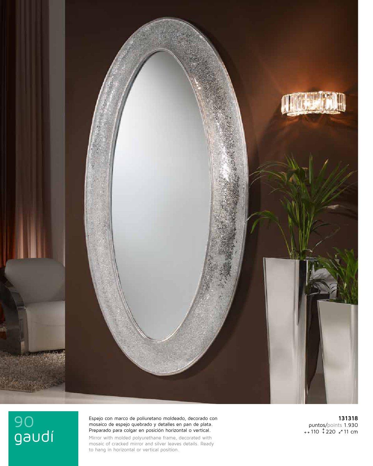 Gaudi espejo Ovalado Vestidor 218x110cm - Pan de Plata Schuller Foto