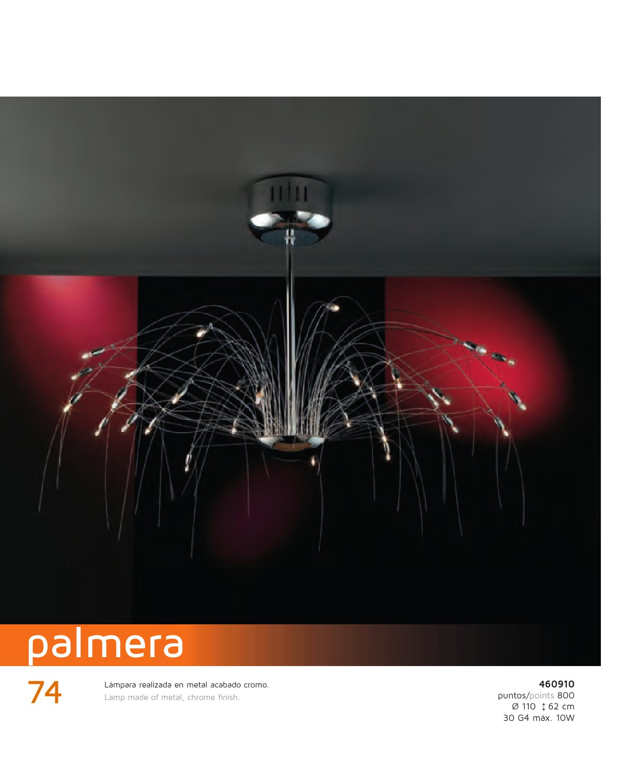 Schuller palmera l mpara colgante 30l cromo 460910 for Iluminacion para palmeras