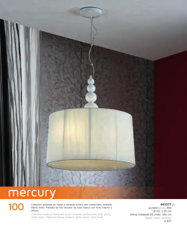 Lámpara Colgante 663577 Mercury 3xE27 55x50cm Schuller Xkn0P8wO