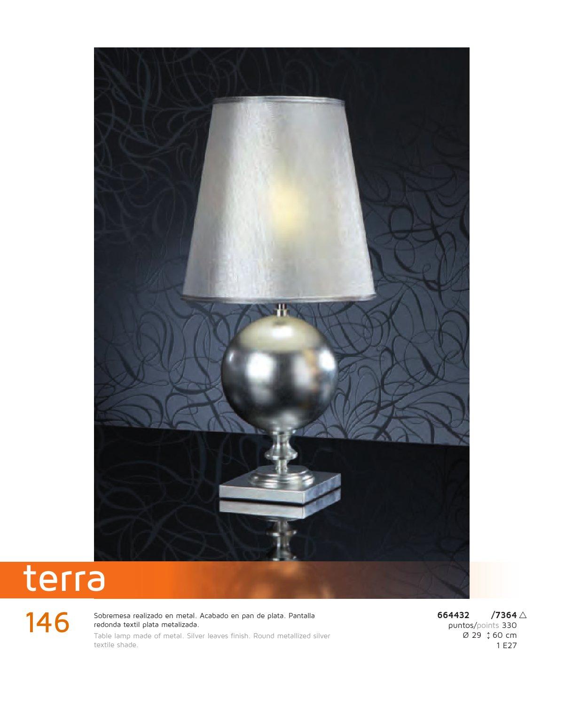 Lampada Da Comodino Argento.Schuller Terra Lampada Da Tavolo Argento 664432 7364 Lamparas