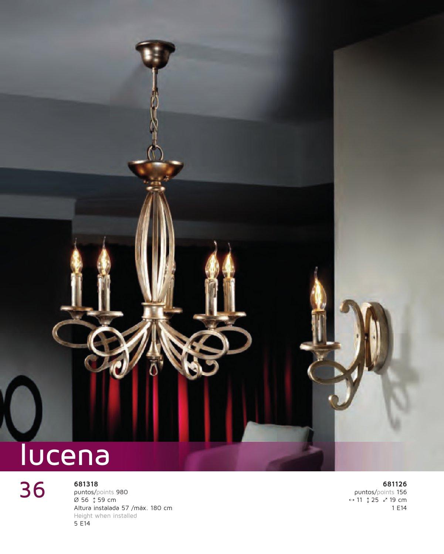 Schuller lucena aplique 1l plata p tina 681126 l mparas - Lamparas lucena ...