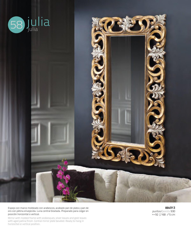 schuller julia spiegel rechteckig gold silber 884913 l mparas de dise o. Black Bedroom Furniture Sets. Home Design Ideas