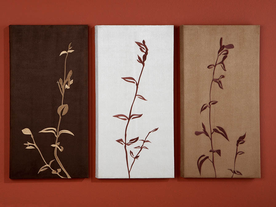 Schuller set 3 cuadros hojas 13 c04 l mparas de dise o - Lamparas para cuadros ...