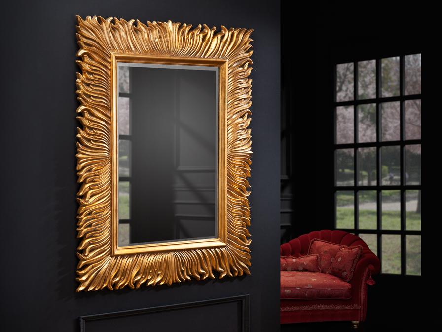 Schuller fenix miroir rectangulaire or 873129 l mparas for Schuller miroir