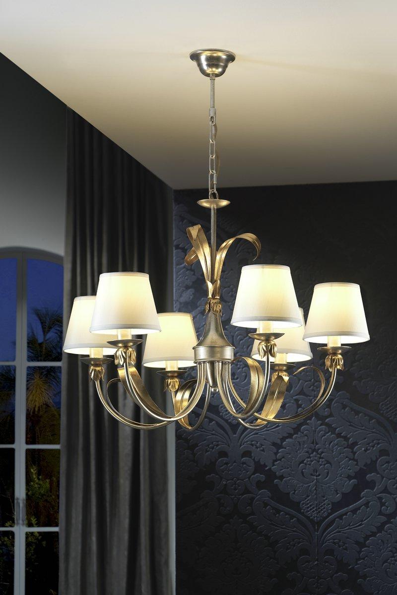 schuller elsa lampe 6l mit lampenschirme 374461 l mparas de dise o. Black Bedroom Furniture Sets. Home Design Ideas