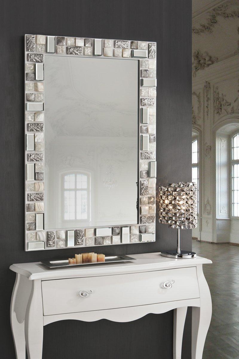 schuller mosaic mirror 120x80 white silver 721925 l mparas de dise o. Black Bedroom Furniture Sets. Home Design Ideas