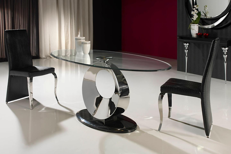 Schuller luna esstisch stahl marmor glas biselado 820227 for Esstisch marmor