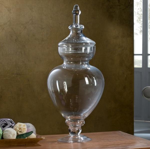 Schuller jarr n cristal con tapa 24x60cm 327539 l mparas for Jarron cristal