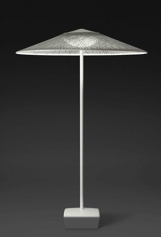 Vibia Wind Lampadaire sombrilla Chrome Vert 4085-07 ...