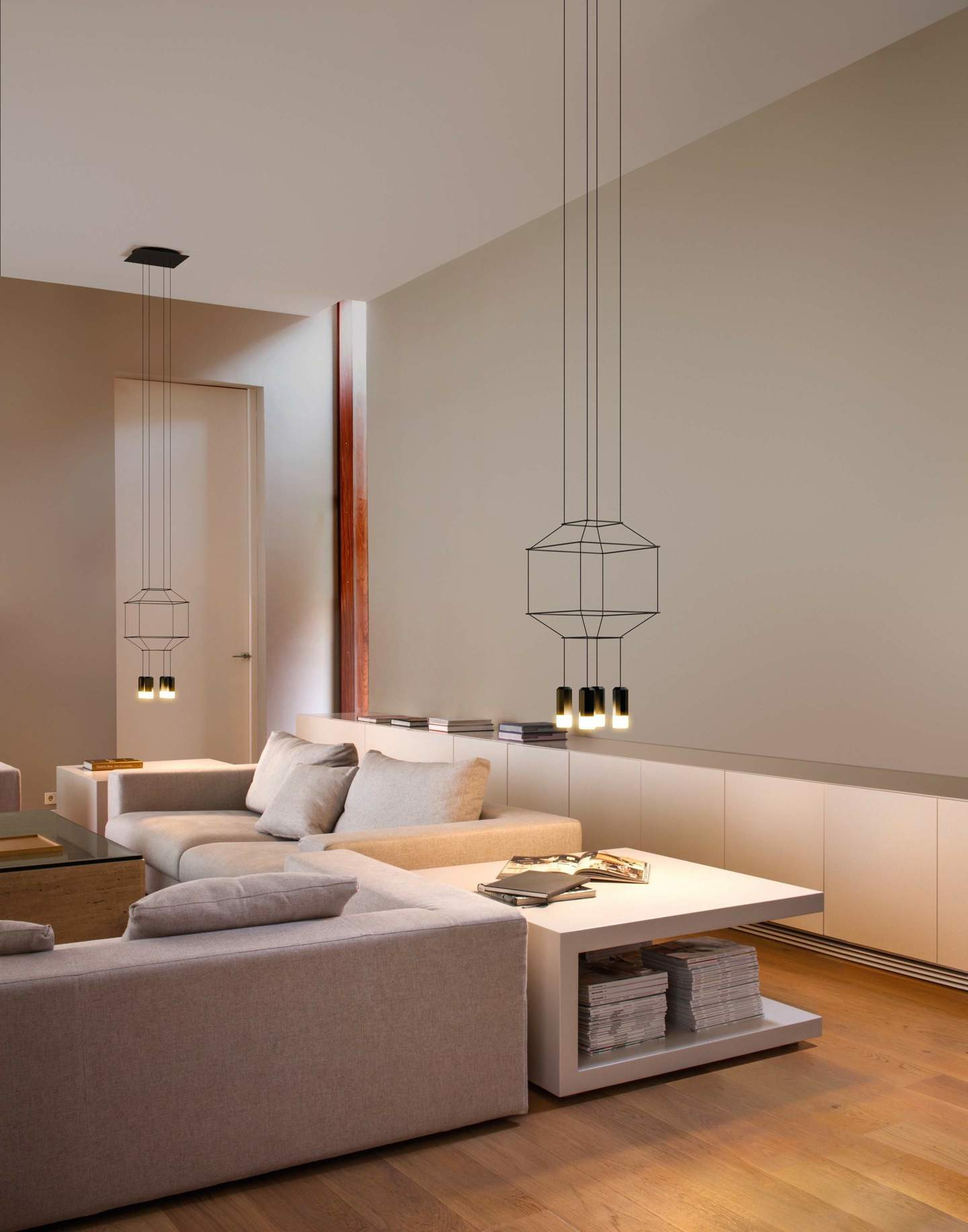 vibia wireflow lin aire suspension 200cm 2xled 4 5w dimmable 0320 04. Black Bedroom Furniture Sets. Home Design Ideas