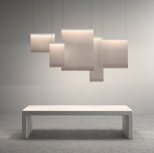 vibia curtain lamp pendant lamp 170x90cm 2xled 7270 93. Black Bedroom Furniture Sets. Home Design Ideas